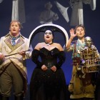 Nicky Spence (Tamino) Claire Watkins (First Lady) and  Richard Burkhard (Papageno)