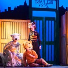 Alison Reid as the Polar Bear, Connor Smith as the Lion and  Christopher Honey as the Tiger