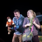 Steven Rae and Sioned Gwen Davies with Sydney the Platypus