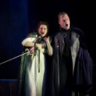 Claire Rutter as Leonora and Roland Wood as Count di Luna