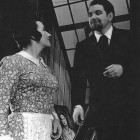 Patricia Howard as Mimi and Robert Thomas as Rodolfo
