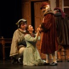 Michael Doroszenko as Rinuccio, Claire Thompson as Lauretta and Richard Mein as Gianni Schicchi
