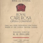 Carl Rosa 1926 promotional flyer