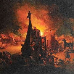 Trautman's painting of the Burning of Troy