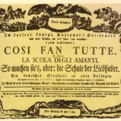 Poster for first performance
