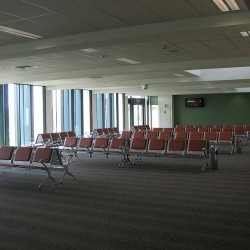 Airport departure lounge