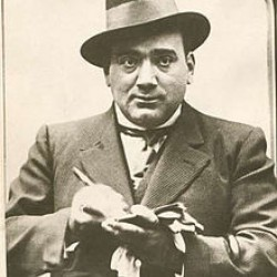 Enrico Caruso signing autographs