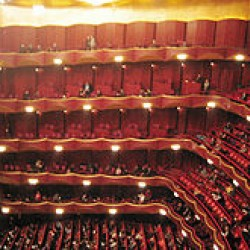 Auditorium of Metropolitan Opera